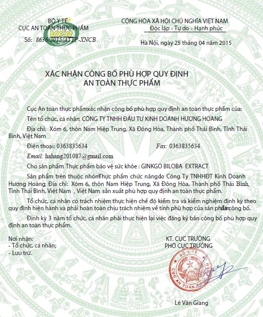 HH 15.4.25 Ginko Biloba Extract