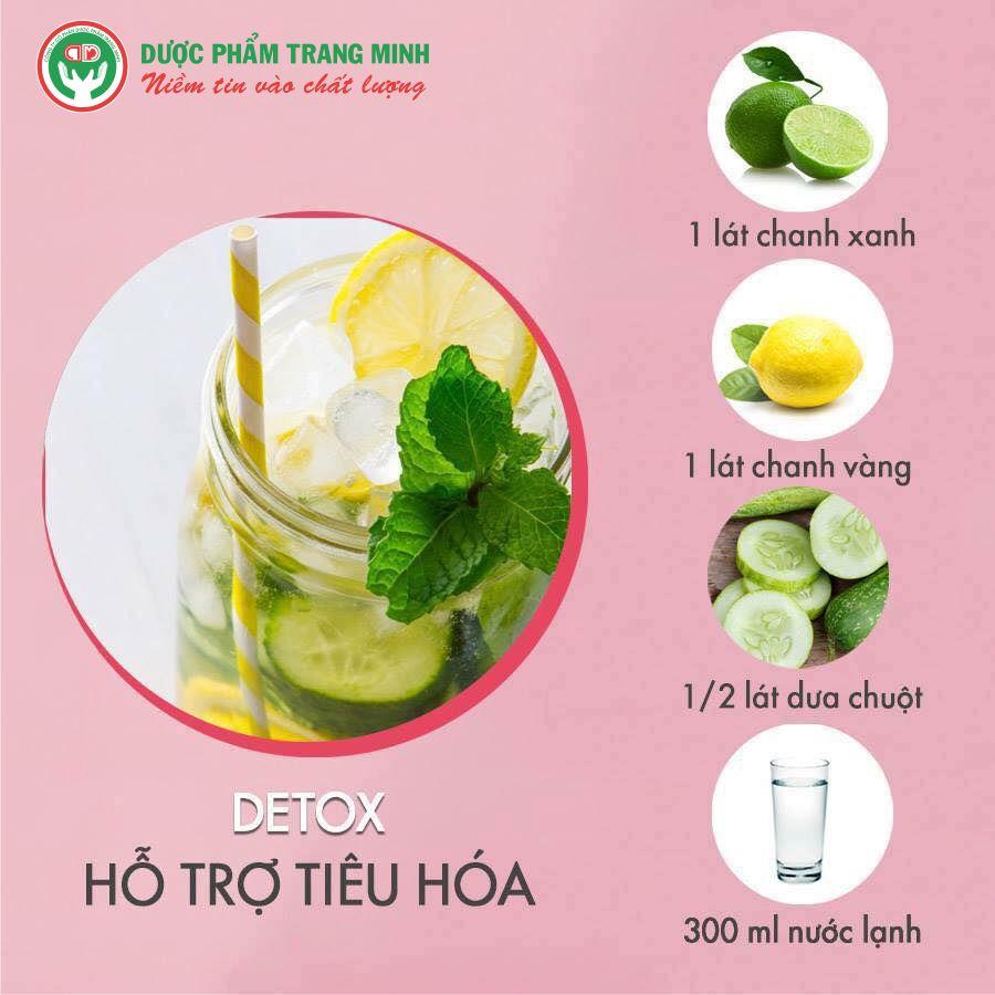 Công thức Detox hỗ trợ hệ tiêu hóa khỏe mạnh