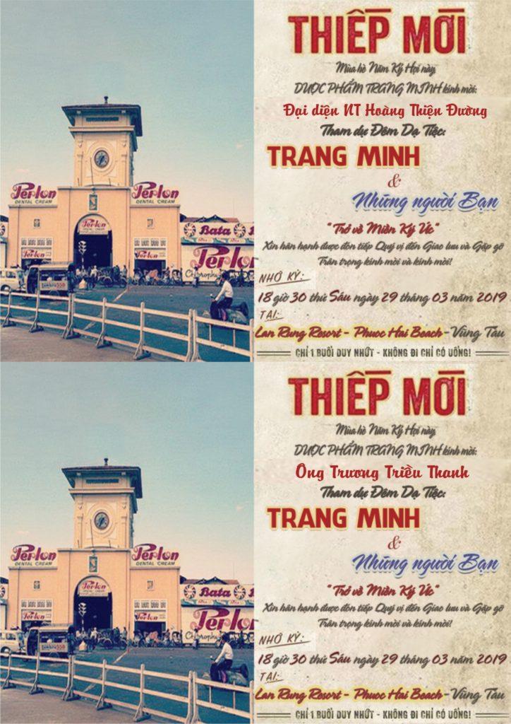 Thiệp mời Trang Minh và Những người bạn lần II